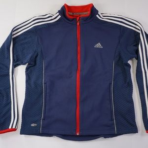 VINTAGE ADIDAS JACKET TRACK LARGE FLEECE CLIMA